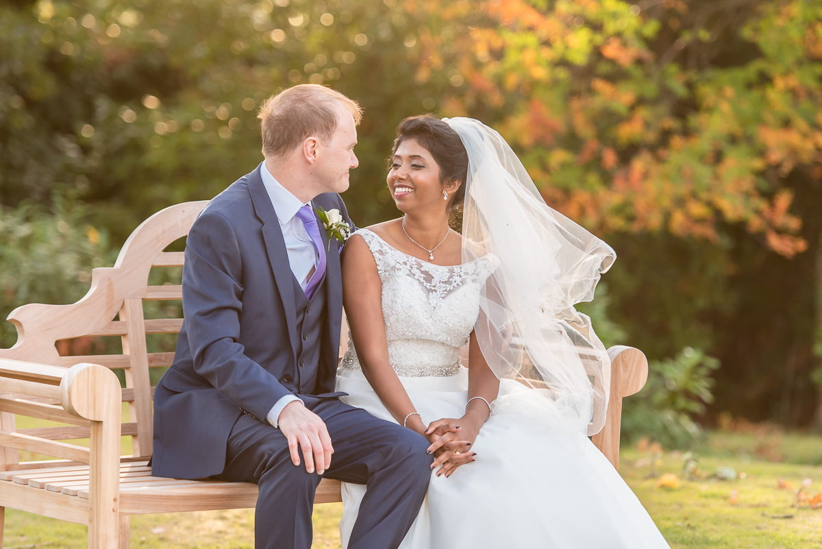 Bromley Court Hotel wedding - garden portrait session