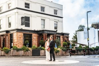 Couple portrait at the Rosendale